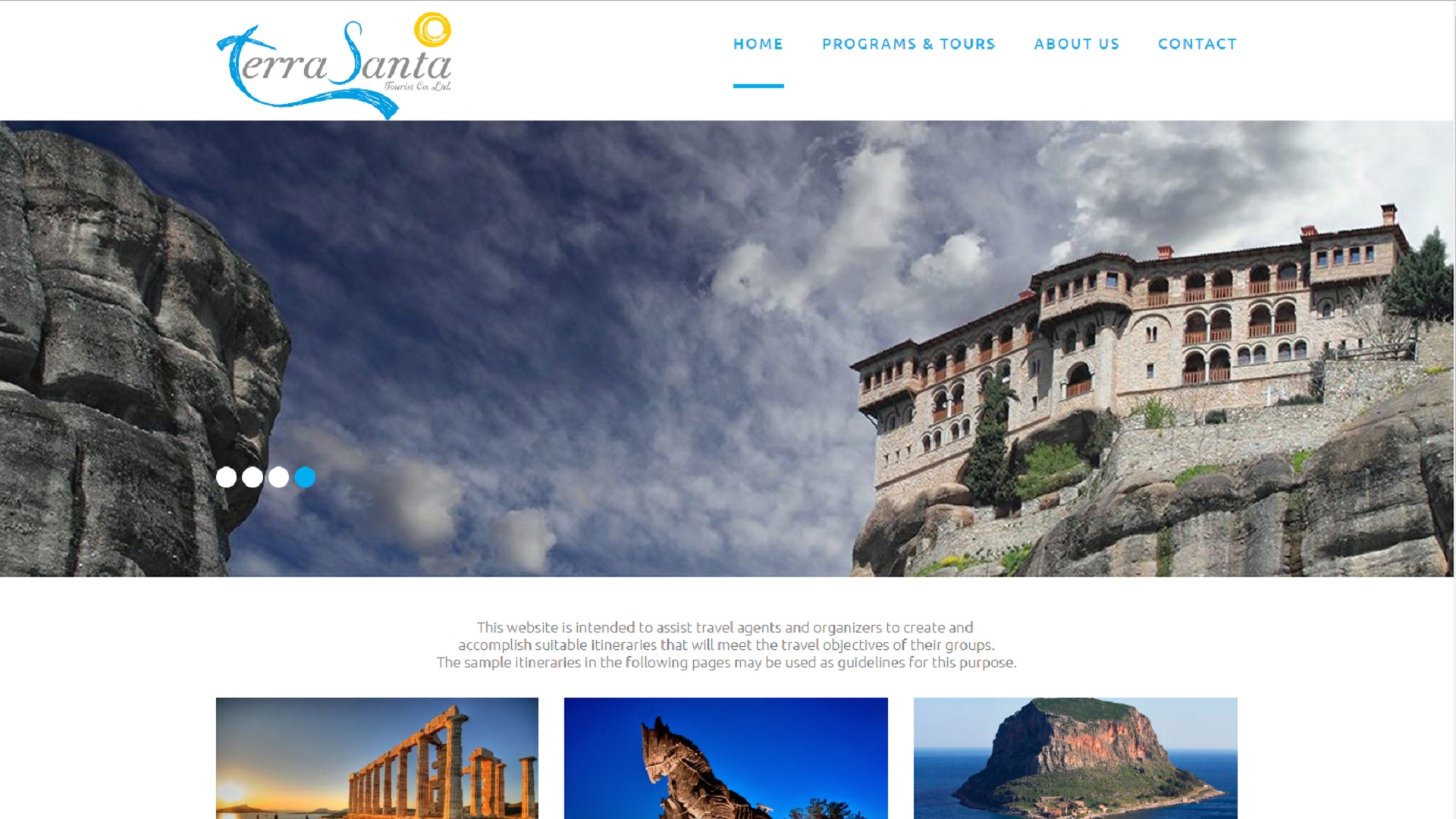 RevMakers Websites - Terra Santa Travel Agency Athens